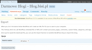 Przenoszenie bloga - eksport postów i pozostałych danych z serwisu blog.bisi.pl
